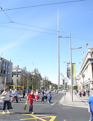O'Connell Street Dublin city center Ireland 2004