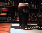 Pint of Guinness in Galway pub
